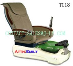 It is adjusted electronically up and down and has massage functions.more colors to choose.