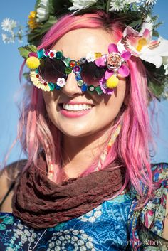 Flowergirl at Burning Man 2015. (Photo by Scott London)