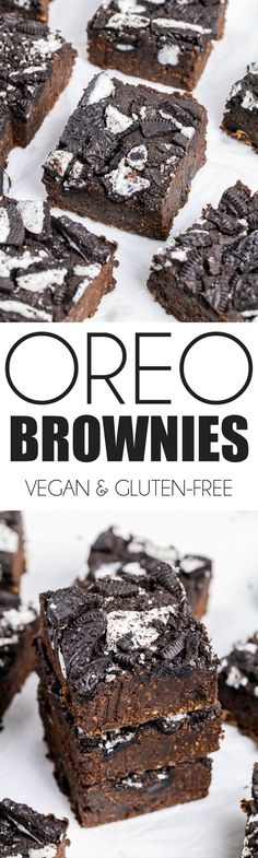 Healthified Vegan Oreo Brownies A delicious, moist and rich chocolate brownie topped with chopped Oreos. Need I say more? Oh, apart from they're also healthier than your average brownies. They're high in fibre with a hidden…