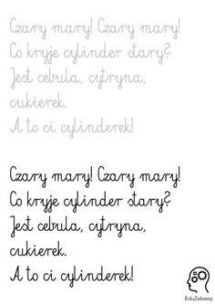 nauka pisania - wierszyki - pismo łączone 2
