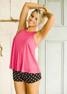 Free People Long Beach Tank (Hot Pink) - Piace Boutique