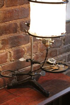 Industrial lamp desk lamp  table lamp made from by BrooklynWeal, $119.99
