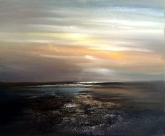 ARTFINDER: Dark Sands by Kimberley  Harris - A new season at Holkham, brings new colours...This artwork is ready to hang with cord at the back and Brass D-Ring fixings. The sides are painted so framing...
