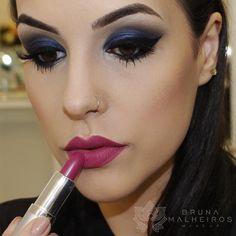 Bruna Malheiros Makeup » Blog Archive » Maquiagem Ousada: Azul + Boca Pink