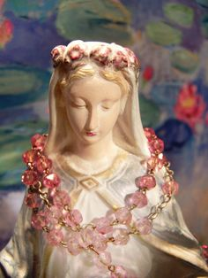 My Our Lady so beautiful Very beautiful Antique French Our Lady statue, from ciel de lit, now on ebay uk World wide item number 151497039664