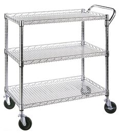 Seville Classics Industrial All Purpose Utility Cart, NSF Listed Seville  Classics