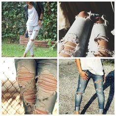 Ripped jeans done right!  vivadivaboutique.blogspot.com