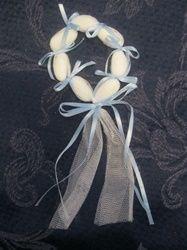 Blue Ribbon Bombomiera, jordan almond favor, greek wedding favor
