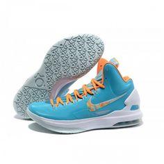 296697044308 Cheap KD V Easter Photo BlueTotal Orange Fiberglass Basketball shoes