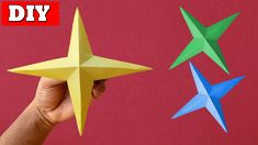 In this video, you'll learn How To Make Paper Star Easy Step By Step.Many people want to know about How To Make Paper Star. For that we make this video. 3d Paper Star, Paper Stars, Easy Paper Crafts, Craft Videos, Origami, Triangle, Learning, Flower, How To Make