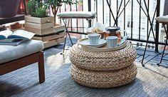 IKEA ALSEDA footstool banana fibre $39 each