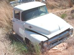 Classic Ford.  There's a garage with a '65 Chevy, manual trans., no bed for sale.  Asking price-$2K!  I've recently checked by and it's still there.  Maybe that's because the driver's door lock is unusable and there's rusting parts due to the lack of a pick-up bed over the rear.