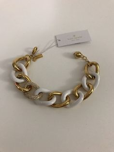 Kate Spade Chain Of Events Pave Link Bracelet 12K Gold Plated in Jewelry & Watches, Fashion Jewelry, Bracelets | eBay