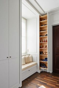40 diy wood project home decorations from smart closet designs to console ta Wardrobe Design Bedroom, Closet Bedroom, Home Room Design, Home Interior Design, Smart Closet, Shoe Closet, Closet Designs, House Rooms, Furniture Design