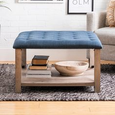 The Gray Barn 30-inch Square Tufted Seat Ottoman - On Sale - Overstock - 29583229 - Grey Square Ottoman, Low Shelves, Shelf, Upholstered Ottoman, Family Room Design, Extra Seating, Furniture Deals, Living Room Furniture, Living Spaces