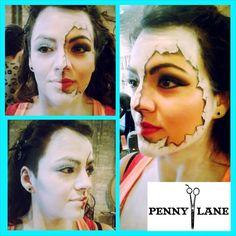 #Doll #dollmakeup #Halloween #makeup #pennylanestudios #Pennylanechicago Doll Makeup, Fx Makeup, Penny Lane, Studios, Wigs, Carnival, Halloween Face Makeup, Painting, Mardi Gras