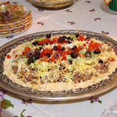 Fantastic Mexican Dip Allrecipes.com
