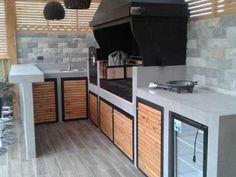 Santiago-quinchos-53 Outdoor Bbq Kitchen, Outdoor Barbeque, Backyard Kitchen, Outdoor Kitchen Design, Outdoor Cooking, Grange Restaurant, Parrilla Exterior, Outdoor Grill Station, Barbecue Design