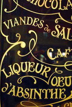 paris cafe outdoor menu