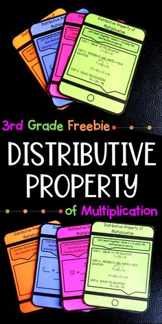 Distributive Property of Multiplication for Grade FREEBIE Use this grade distributive property of multiplication product for interactive notebooks, bell-ringers, exit tickets, or just practice. Distributive Property Of Multiplication, Properties Of Multiplication, Multiplication Activities, Math Activities, Third Grade Math, Ninth Grade, Seventh Grade, Grade 3, Homeschool Math