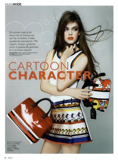 FAY for GRAZIA Netherlands - 2014. Women's Spring - Summer 2014 collection - Dress and Bag.