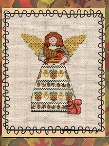 Angel of Autumn free cross stitch chart