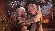 """You're more than that Book scene from """"The Sword of Destiny"""" written by Andrzej Sapkowski """"Geralt!"""" The witcher turned instantly and rushed to meet the young girl. The scene left Yurga speechless. Ciri Witcher, The Witcher Geralt, Witcher Art, The Witcher Game, The Witcher Books, Witcher 3 Wild Hunt, Call Of Cthulhu, Witcher Wallpaper, 1366x768 Wallpaper"""