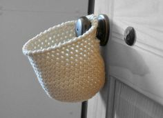 Hanging storage basket from A and B Design Studio on Etsy