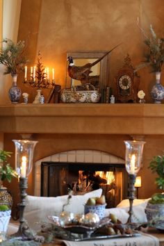 wonderful decoration, makes this living room so warm, comfy and inviting...