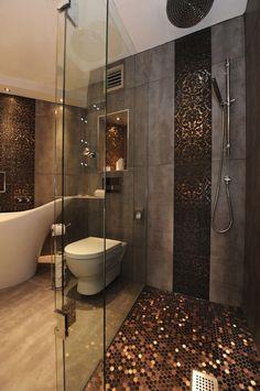 nice Love the penny shower floor. Luxury Interiors, Art, Creativity, Luxury, Glamour,... by http://www.danaz-home-decor-ideas.xyz/home-interiors/love-the-penny-shower-floor-luxury-interiors-art-creativity-luxury-glamour/