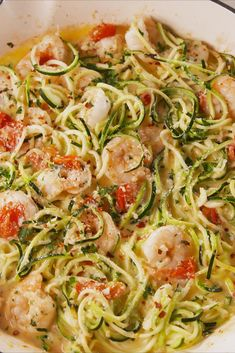 Garlicky Shrimp Zucchini PastaDelish