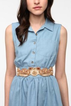 Kimchi Blue Sparkle Fancy Stretch Belt