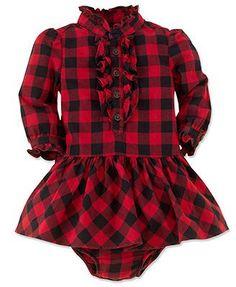 Image result for ralph lauren baby girl plaid christmas dress