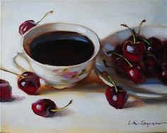 """Black Coffee"" - Original Fine Art for Sale - © Elena Katsyura"