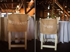 husband and wife chairs instead of bride/groom