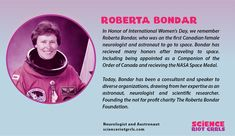 The first female Canadian Neurologist and Astronaut to go into space. Order Of Canada, We Remember, Illuminati, Astronaut, Nasa, Engineering, Science, Technology, Female