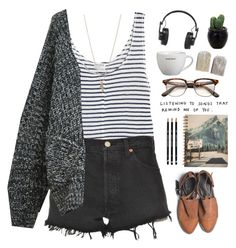 """""""Listening to songs that remind me of you..."""" by jocelynj17 ❤ liked on Polyvore featuring Frame Denim, Levi's, Chicnova Fashion, Minor Obsessions, Master & Dynamic, My Mum Made It, women's clothing, women's fashion, women and female"""