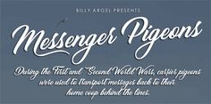 Image for Messenger Pigeons Personal Use font