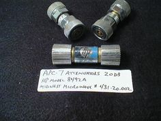 Attenuators, 20 dB, HP model 8492A Midwest Microwave model 431-20-002; part no. apc7-17