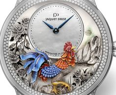 Wishing all our Chinese friends a Happy and prosperous year of the Rooster. Kung Hei Fat Choy! Here with the gorgeous Jaquet Droz Petite Heure Minute Rooster straight from the brand's Ateliers d'Arts department. The miniature sculpture technique as seen on the dial is limited to 28 pieces... ○ Read about Jaquet Droz on www.ablogtowatch.com #ablogtowatch