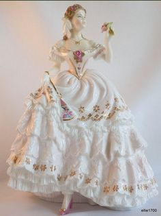 Royal Worcester Fine Bone China L/ED Figurine THE FAIREST ROSE Made in England http://www.ebay.com/