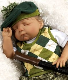"""Amazon.com - Paradise Galleries, 19"""" Baby Doll Future Golfer by Artist: Pat Moulton - Scrapbooking Supplies"""