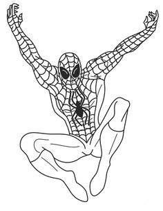 big printable pictures to color  Free Printable Spiderman