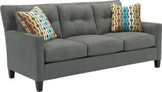 Jevin Sofa   If you love the classics and appreciate modern design, the customizable Jevin Sofa is the right fit for your home. Its traditional tuxedo sofa profile has up-to-date track arms and an unskirted base. Choose a great fabric or a rich leather to make this chair your own.