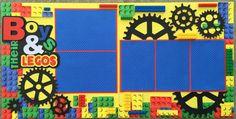 Boy Scrapbook Page Layout -- Lego Scrapbook Examples, Disney Scrapbook Pages, Scrapbook Designs, Scrapbook Sketches, Scrapbook Page Layouts, Scrapbook Supplies, Scrapbook Cards, Scrapbook Frames, Scrapbooking Ideas