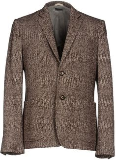 $111, Brown Wool Blazer: Paolo Pecora Blazers. Sold by yoox.com. Click for more info: https://lookastic.com/men/shop_items/288679/redirect