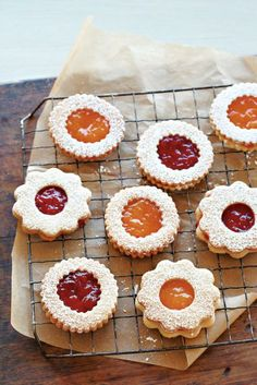 Strawberry Jam Sandwich Cookies