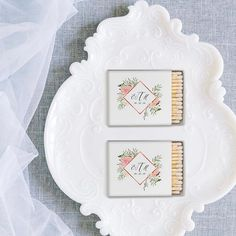 Beautiful matches customized with your monogram or name! | Kelsey Joy Creative