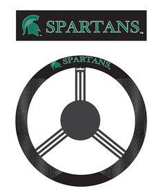 Michigan State Spartans Steering Wheel Cover #zulily #zulilyfinds