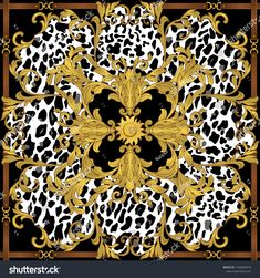 Find Ornament Seamless Pattern Leopard Baroque Elements stock images in HD and millions of other royalty-free stock photos, illustrations and vectors in the Shutterstock collection. Designs To Draw, Art Designs, Baroque Pattern, Leopard Pattern, Animal Print Rug, Illustration, Graphic Art, Royalty Free Stock Photos, Hermes Scarves